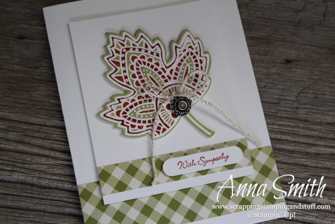 Lighthearted Leaves Sympathy Card #ctd369 #fms213