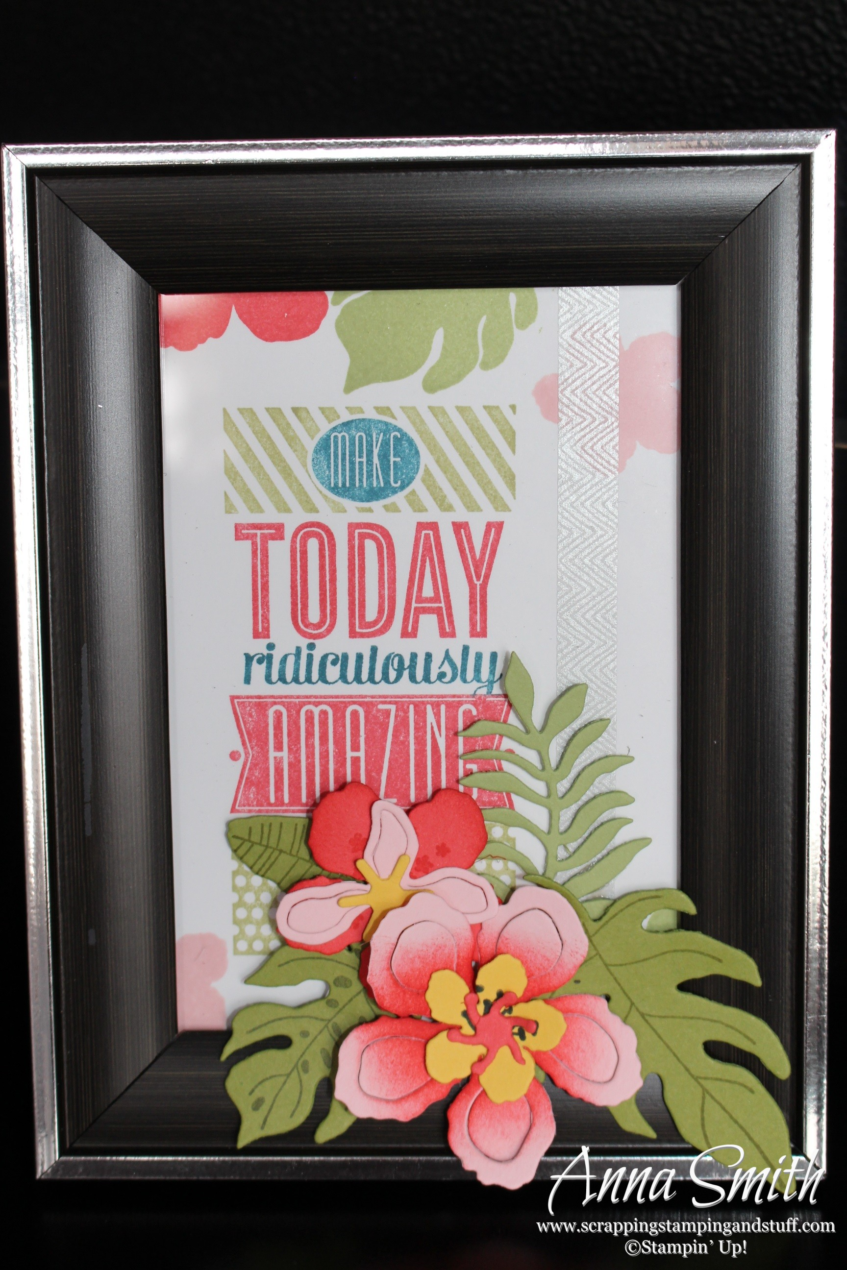 Make Today Ridiculously Amazing Stamped Framed Art - Scrapping ...