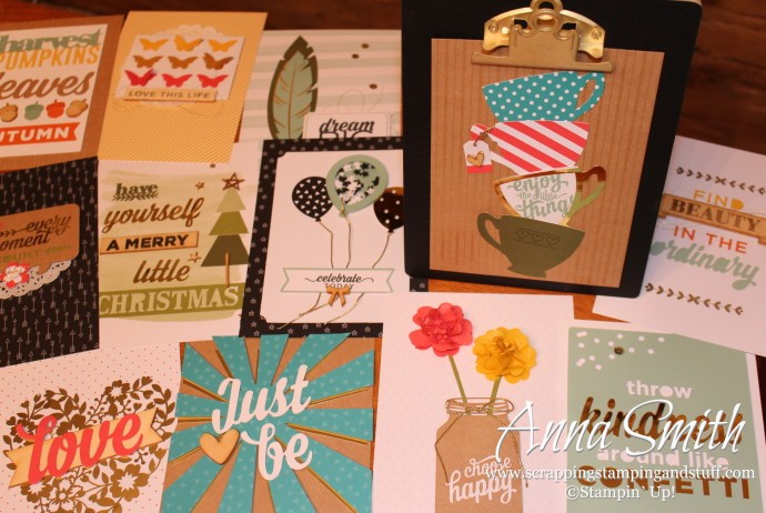 Stampin' Up! Enjoy the Little Things Project Kit clipboard seasonal display