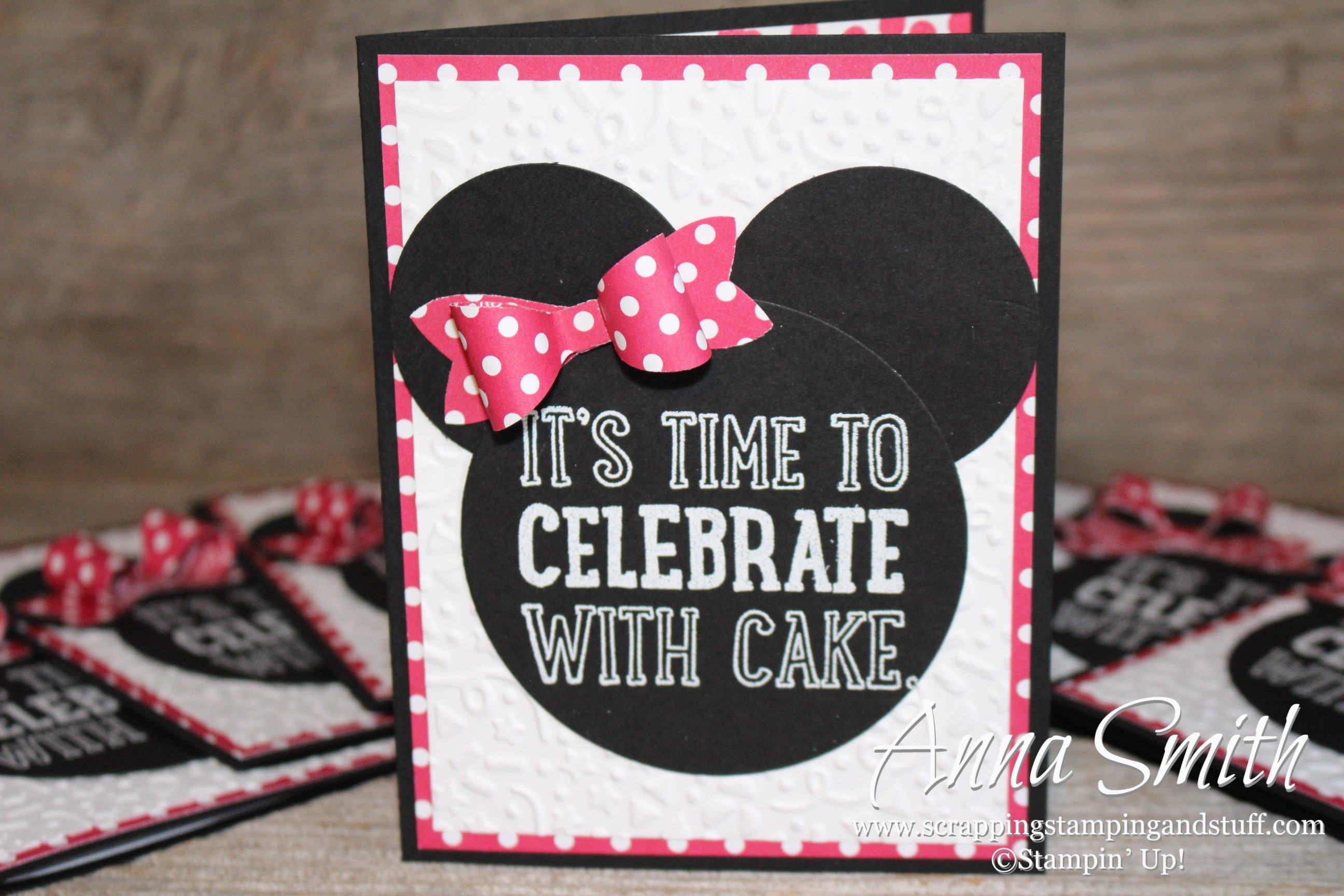 Minnie Mouse Birthday Party Invitations Scrapping Stamping and Stuff