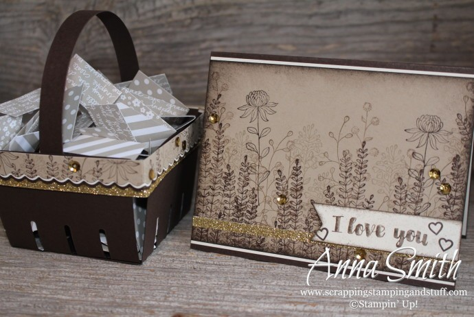 Stampin' Up! Flowering Fields Berry Basket and Card Set would be a great handmade gift idea