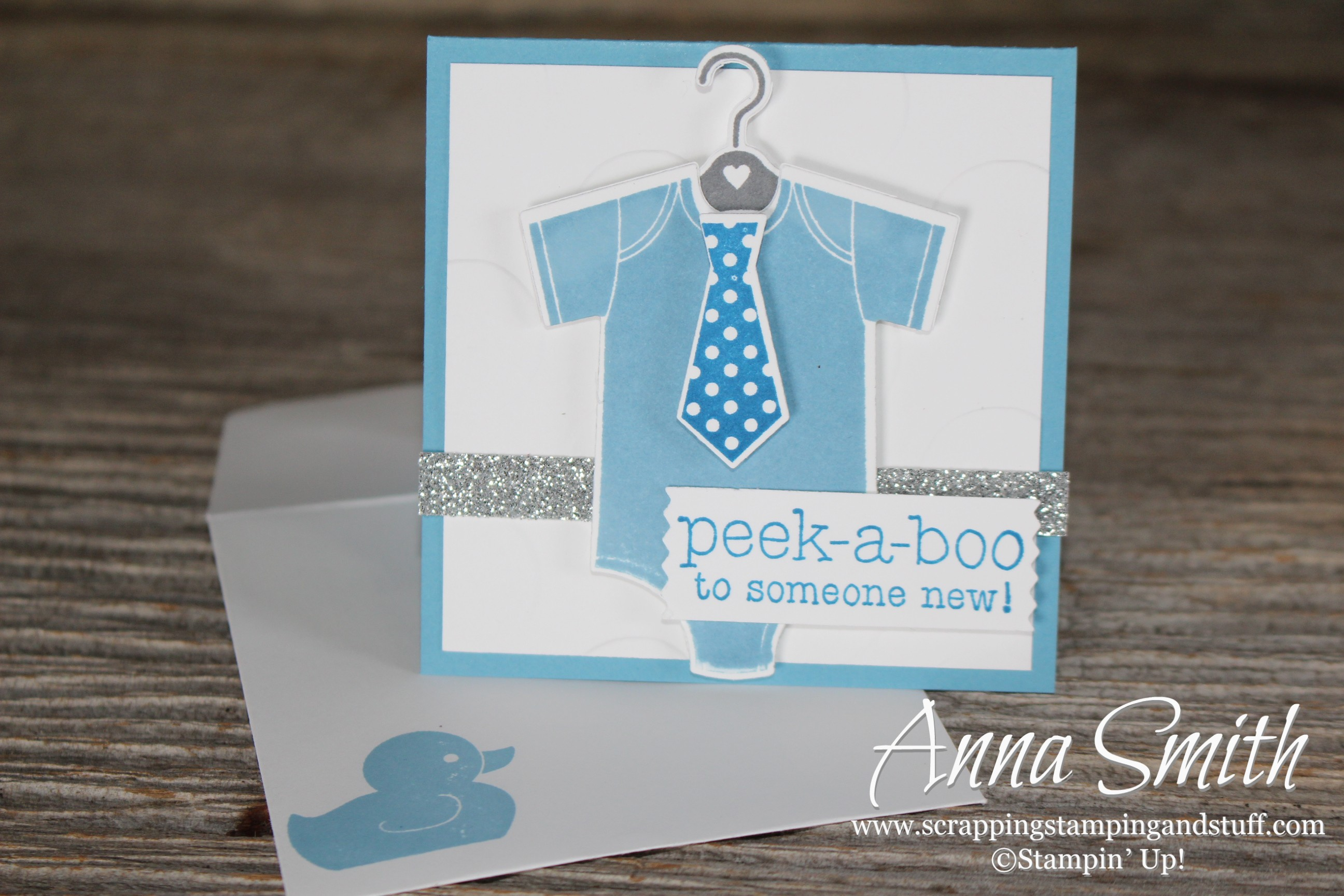 Onesie Baby Shower Card Scrapping Stamping And Stuff