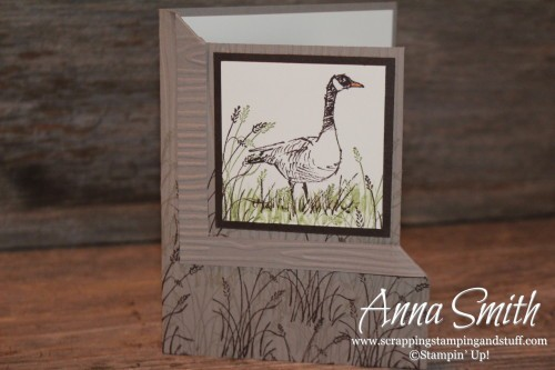 Wetlands Corner Fold Masculine Birthday Card Scrapping Stamping