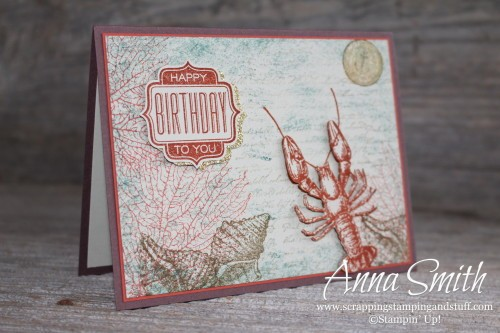 By The Tide Masculine Birthday Card Scrapping Stamping And Stuff