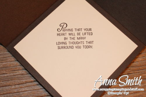 Moroccan Fancy Fold Sympathy Card using Flourishing Phrases Bundle from Stampin' Up!