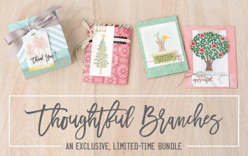 The Stampin' Up! Thoughtful Branches Bundle is available for a limited time, while supplies last! Get it before it's gone!