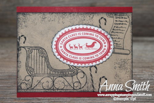 Old fashioned greetings from santa card scrapping stamping and stuff rustic old fashioned santas sleigh christmas card using greetings from santa and holly jolly layers stamp m4hsunfo