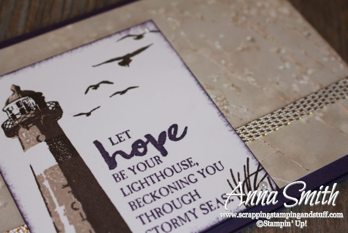 Lighthouse hope thinking of you card made with Stampin' Up! High Tide stamp set