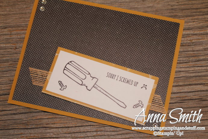 Stampin' Up! Nailed It Masculine Sorry Apology Card