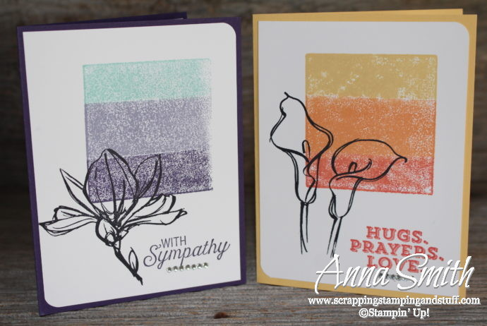 Block stamping technique thinking of you card with the Stampin' Up! Remarkable You, Rose Wonder, and Sending Thoughts stamp sets