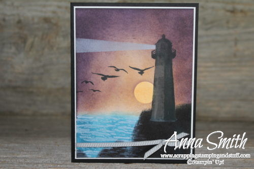 Stampin' Up! High Tide Lighthouse Scene Card Tutorial