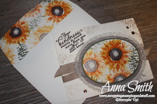 Stampin' Up! card idea - Painted Harvest fall sunflower friendship card 2018 Holiday Catalog