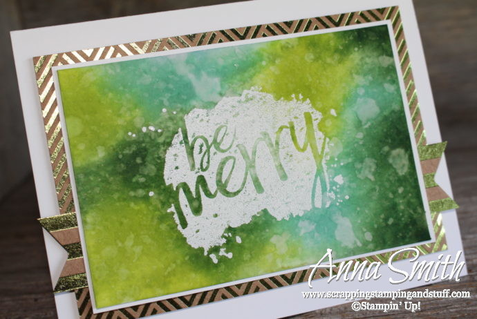 7 Days of Stampin' Up! Holiday Catalog Sneak Peeks! Watercolor Christmas card idea using the Every Good Wish stamp set.
