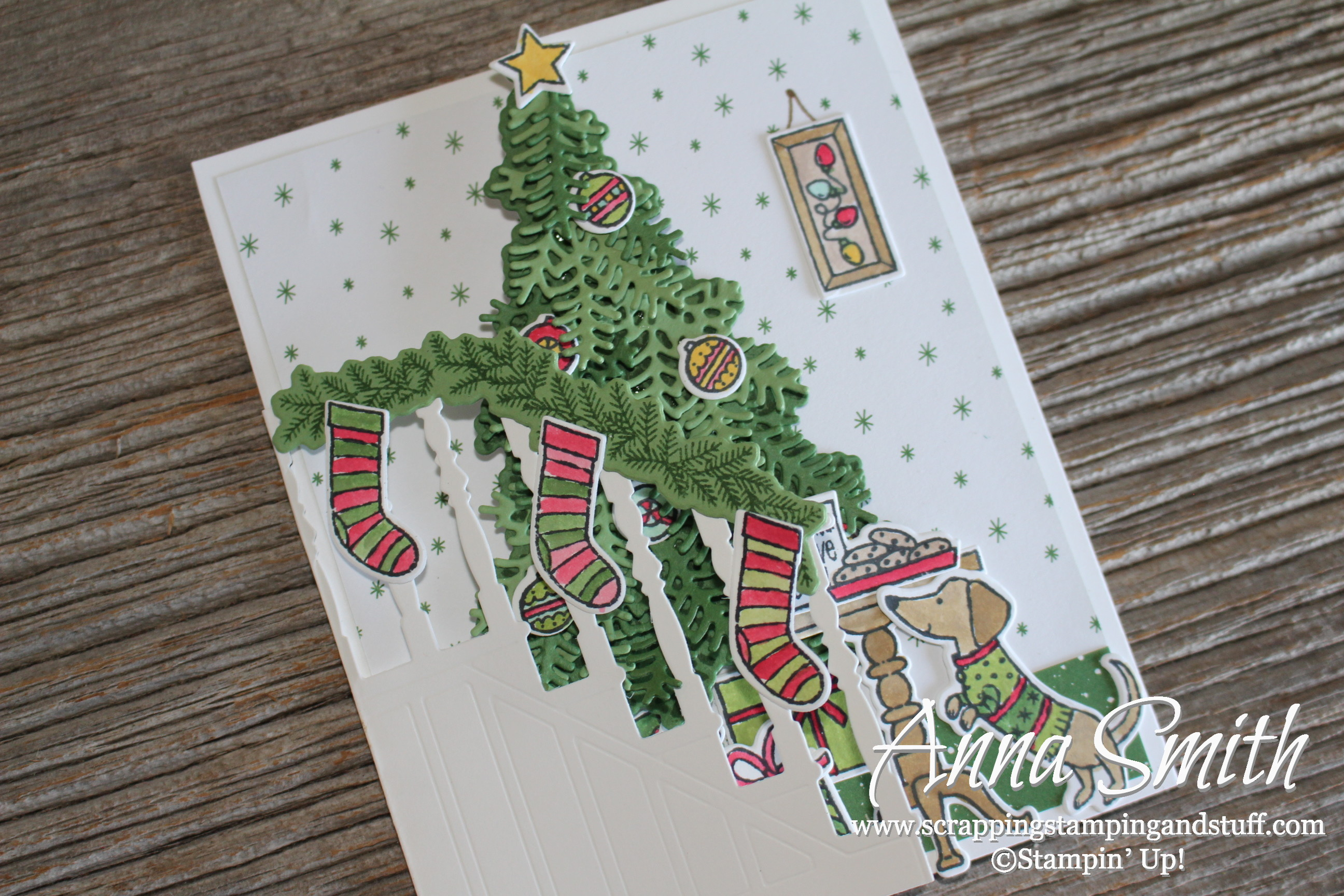 Stampin\' Up! Christmas Trifold Card Idea Using Ready for Christmas ...