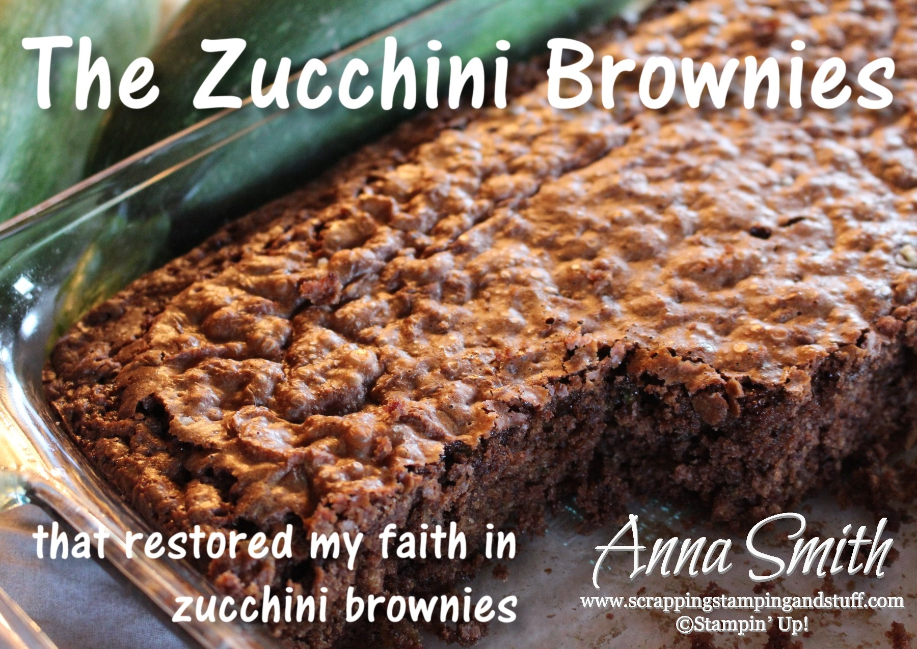 The Absolute Best Zucchini Brownies!