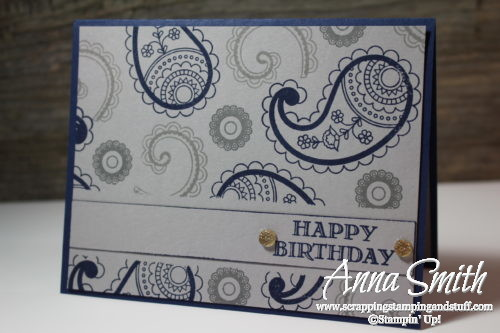 Paisleys Posies Masculine Birthday Card Scrapping Stamping And Stuff