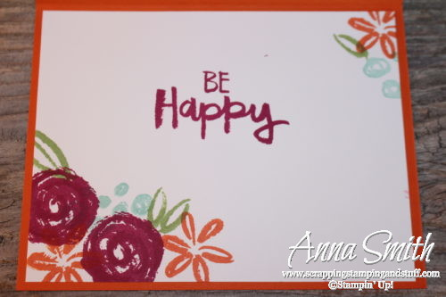 A Floral Birthday Card With Stampin Up Paint Play Scrapping