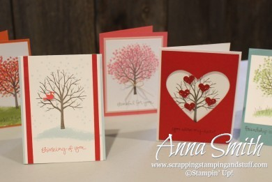Five cute cards made with the Sheltering Tree stamp set.