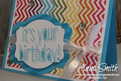 Stampin' Up Big News Birthday Card