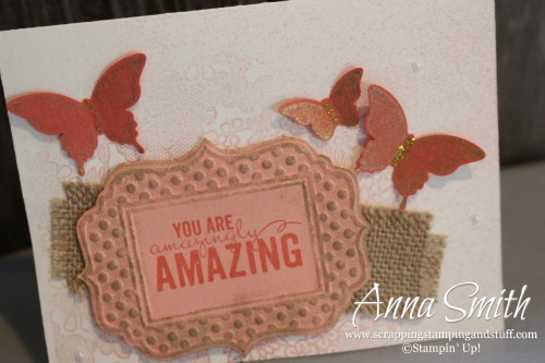 Painted Petals Butterfly Card