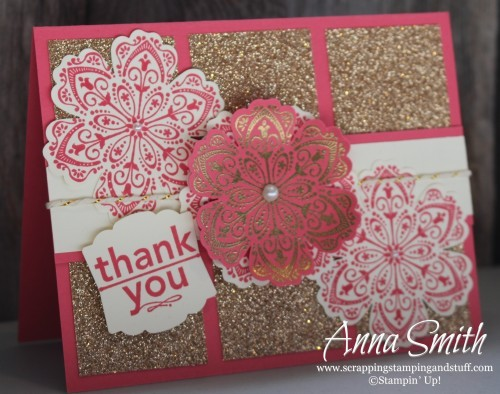 Glitz and Glitter Thank You Card