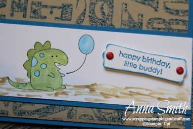 Little Buddy Dinosaur Birthday Card