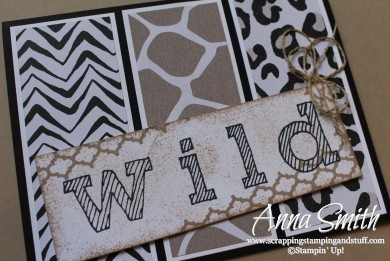 Stampin' Up! Go Wild Card