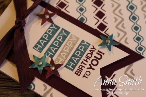 Bohemian Borders Birthday card #TGIFC10