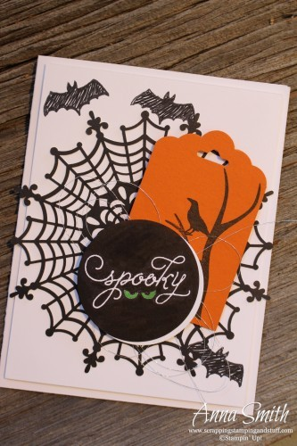 Spooky Spiderweb Halloween Card made with Among the Branches stamp set #tgifc14