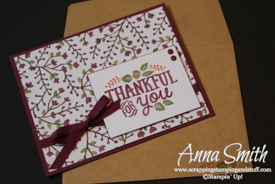 Thankful for You Invitations featuring Thankful Forest Friends and Into the Woods designer paper