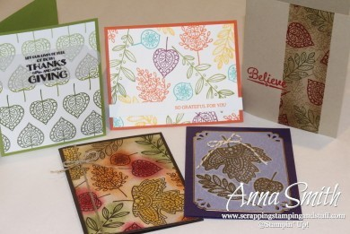 Lighthearted Leaves Stamp Set of the Month- buy the set and get the card kits included!