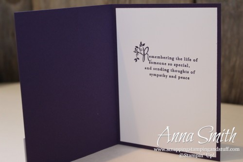 Amethyst Birthstone Challenge Card featuring Remarkable You and Thoughts and Prayers stamp sets