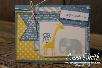 Zoo Baby Blues baby boy card