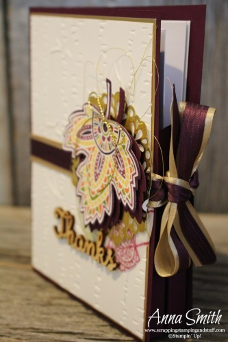 Lighthearted Leaves Card Box and coordinating card set Stampin' Up! Great DIY gift idea