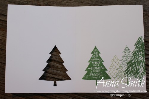 Peaceful Pines Christmas Card Stampin' Up!