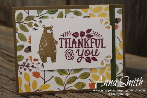 Thankful Forest Friends Card Set featuring Into the Woods designer series paper
