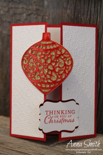Embellished Ornaments Gate Fold Card