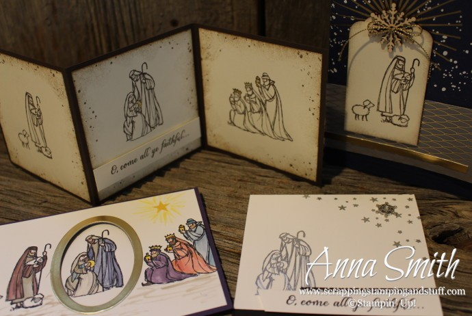 All Ye Faithful Christmas Cards with nativity scenes