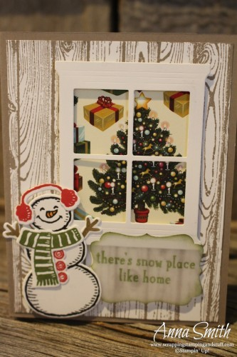 Snow Place Bundle Snowman card with Hearth & Home window die