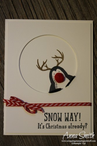 Snow Place Bundle Penguin with Antlers from the Wonderland stamp set
