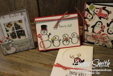 Snow Place bundle penguin and snowmen Christmas cards