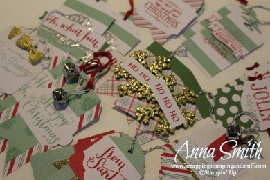 Oh What Fun Christmas Tags Kit from Stampin' Up! These are the cutest tags ever!