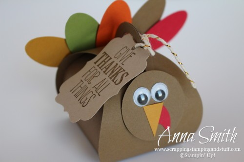 Curvy Keepsake Box Turkey Stampin' Up! Great Thanksgiving favor, centerpiece and table decoration
