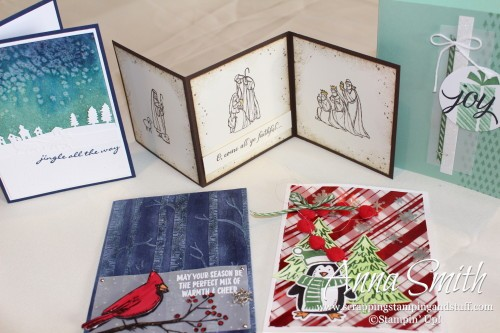 Scrapping Stamping and Stuff- Handmade Christmas cards