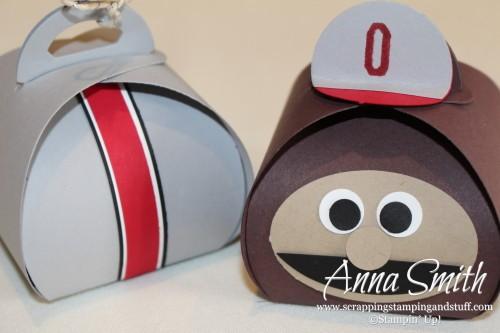 Curvy Keepsake Box Brutus Buckeye and Ohio State Football Helmet