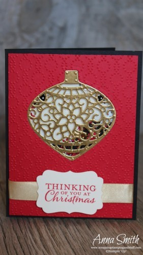 Embellished Ornaments Shaker Christmas Card