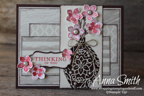 Embellished Ornaments Stamp Set used as a Vase