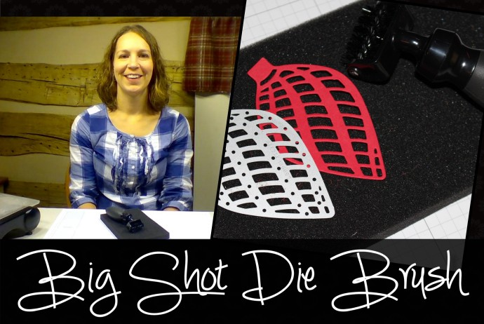 Big Shot die brush- get those tiny pieces out of your die cuts easily!