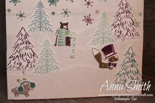 ICS Blog Hop Perfectly Packaged - Handmade Gift Bag using Thankful Forest Friends, Snow Place, Peaceful Pines and Oh What Fun stamp sets