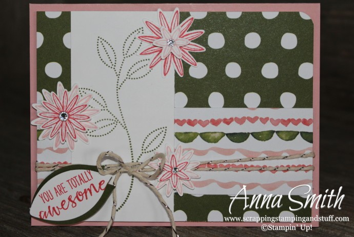 Blossom Bouquet Card made with Stampin' Up! Grateful Bunch stamp set, Blossom Bunch Punch and Birthday Bouquet designer series paper